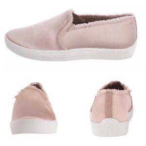 Joie💕Huxley Slip On Satin Sneakers Frayed Blush